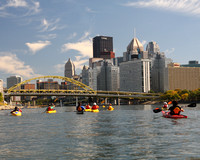 Kayaking on the Allegheny, Pittsburgh, Pennsylvania
